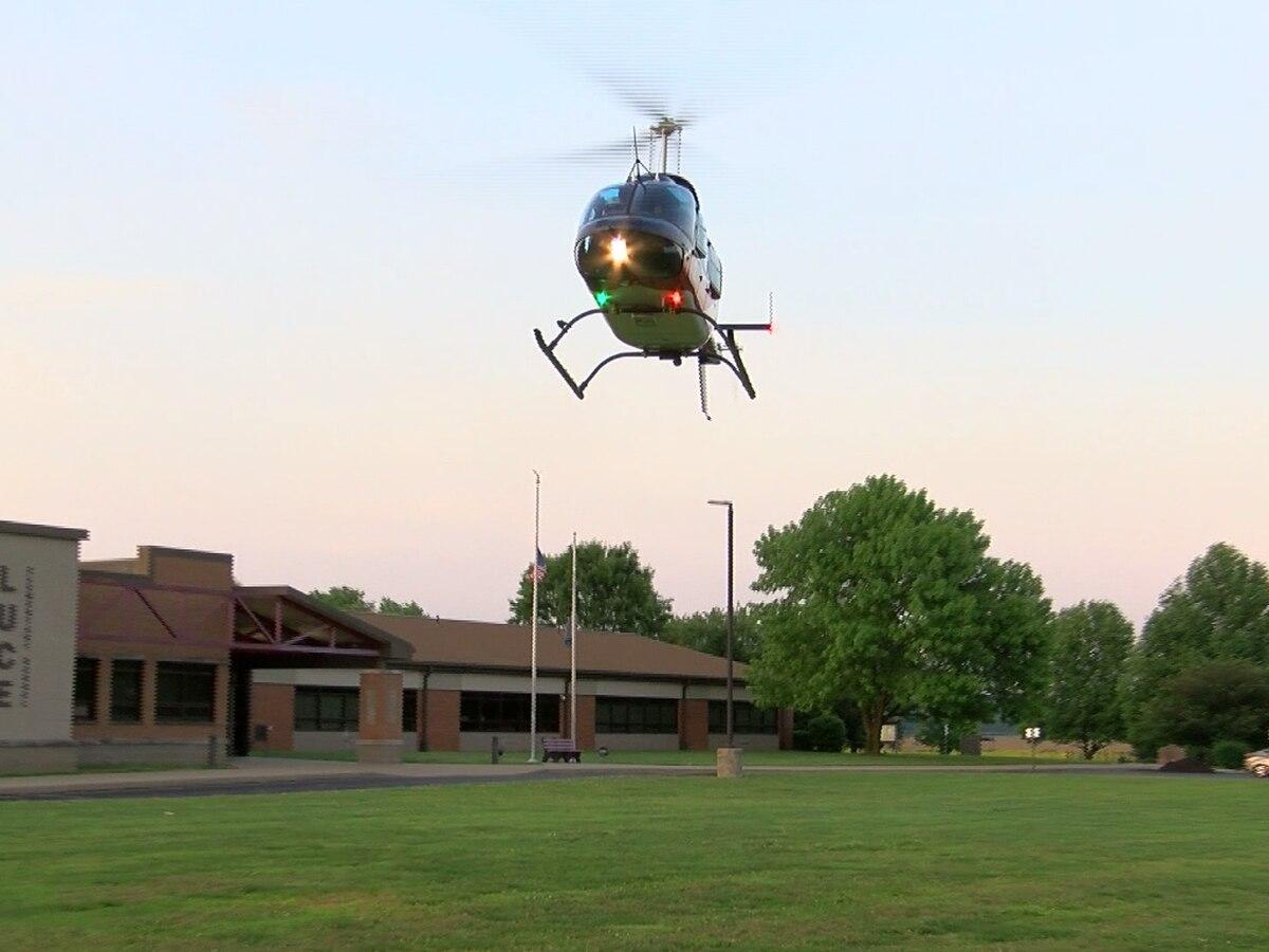 One flown to hospital after Spencer Co. crash