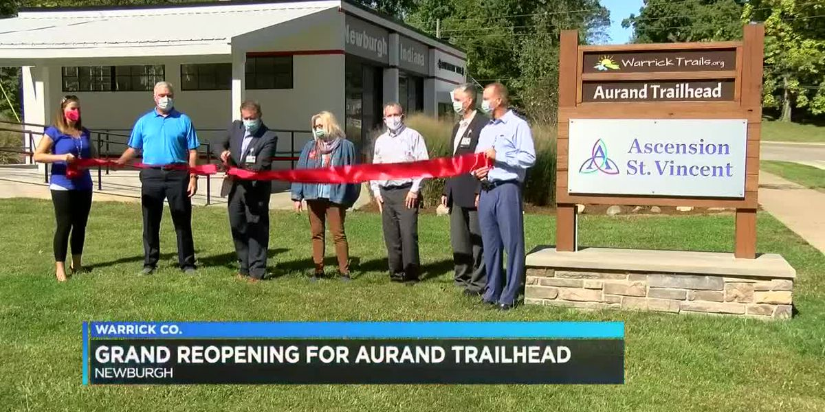 Warrick Trails holds grand reopening for Aurand Trailhead after finishing upgrades