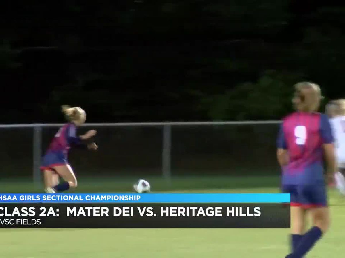 2A girls soccer sectional highlights: Mater Dei vs Heritage Hills