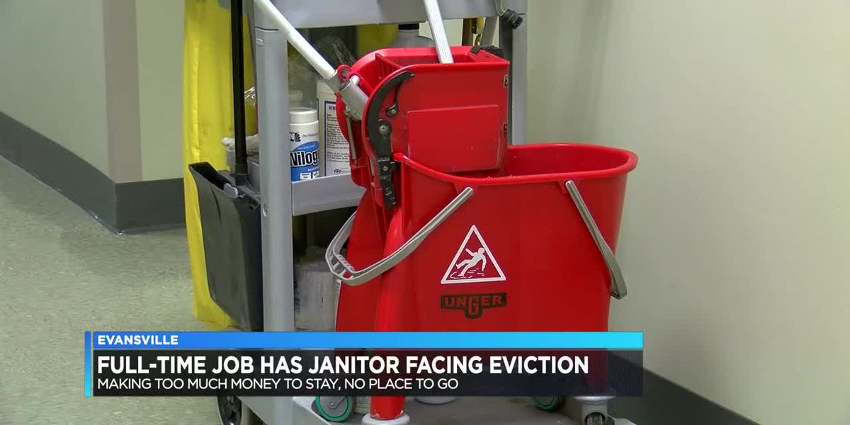 Full-time job has janitor facing eviction