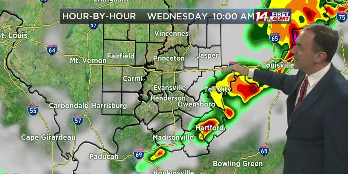 On alert for a few strong storms Wednesday