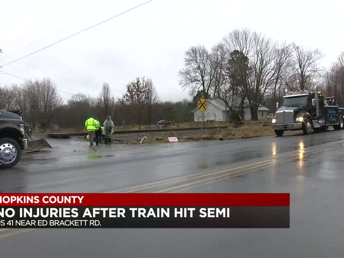 No injuries after train hit semi in Hopkins Co.