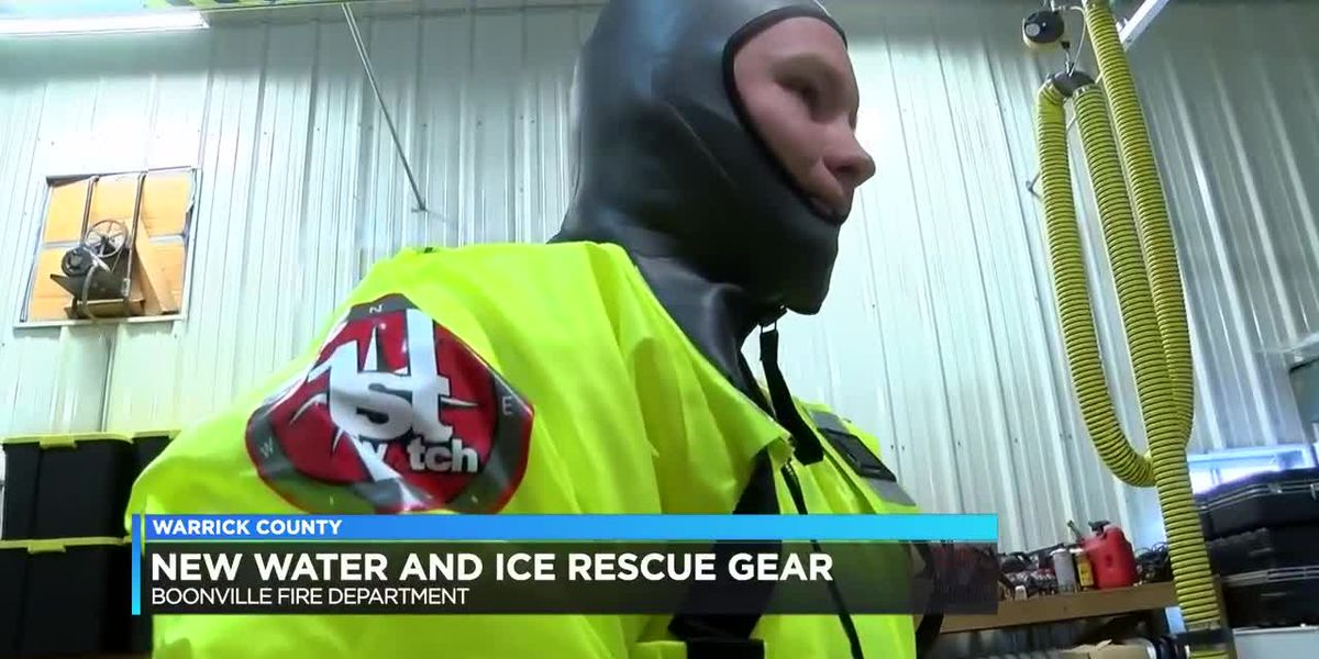 Boonville Fire Department gets new water and ice rescue gear