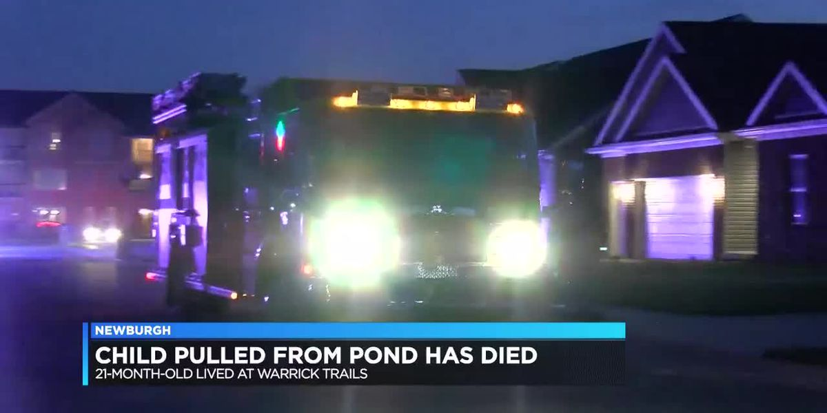 Child rescued from Newburgh pond has died