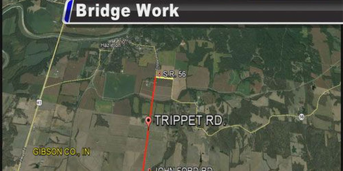Bridge work to close Trippet Road in Gibson Co.