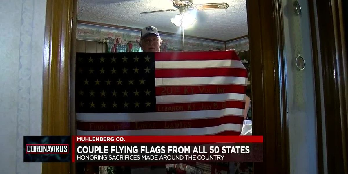 Kentucky couple honor all 50 states by flying flags
