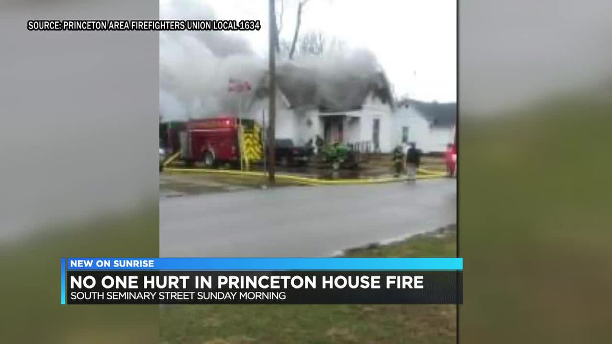 No one hurt in Princeton house fire