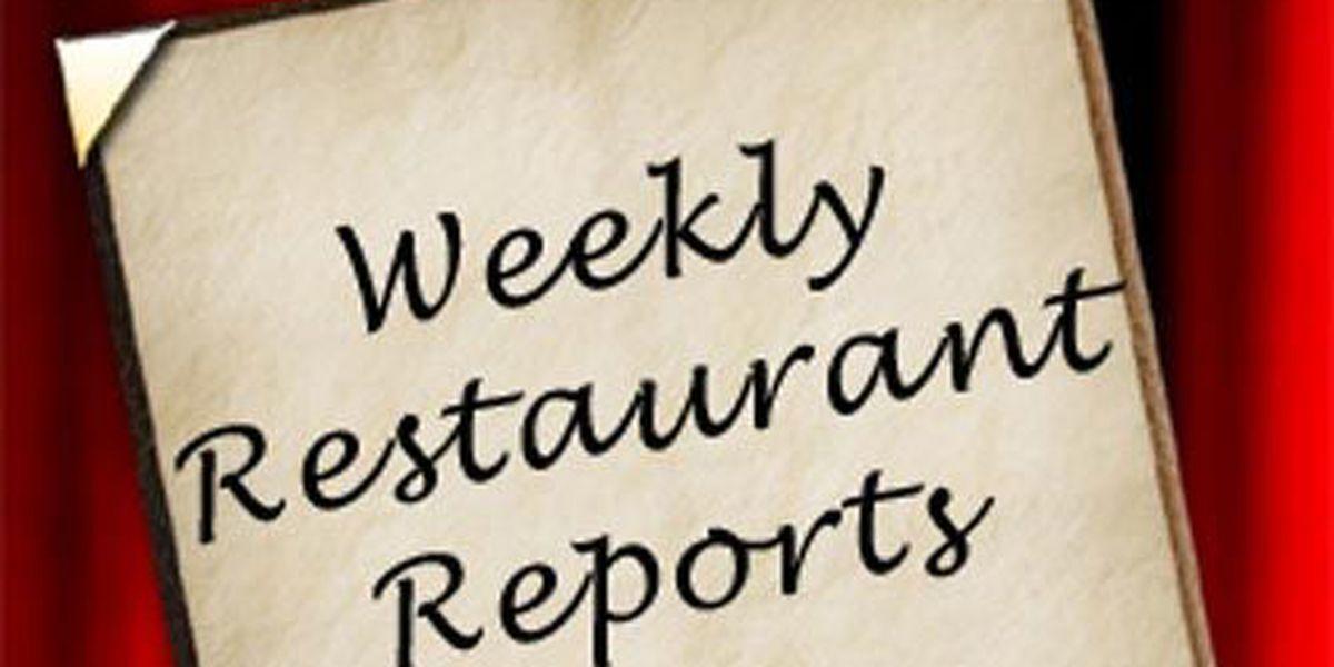 Vanderburgh Co. weekly restaurant reports