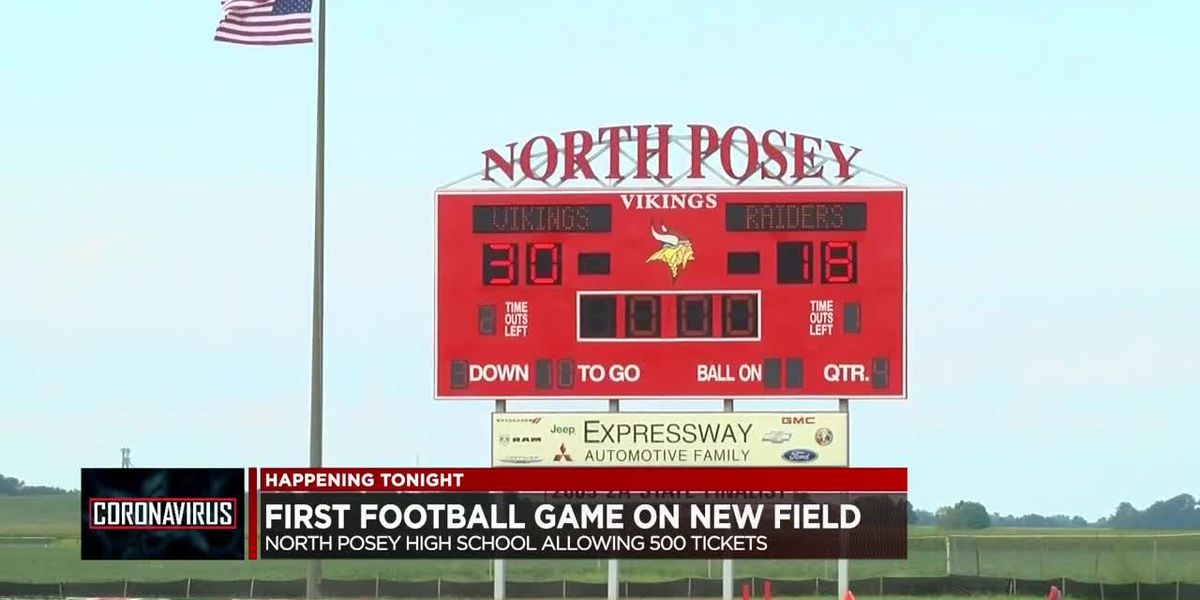 Safety guidelines in place for North Posey's 1st football game on new field