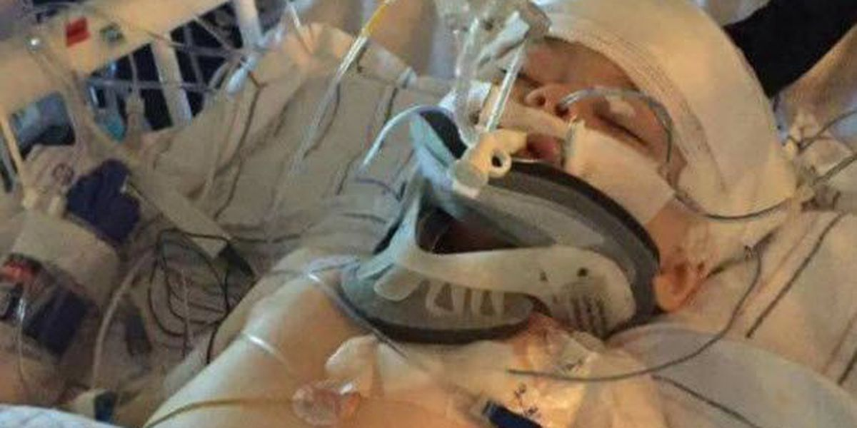 Madisonville baby returns home following weeks in hospital with severe injuries