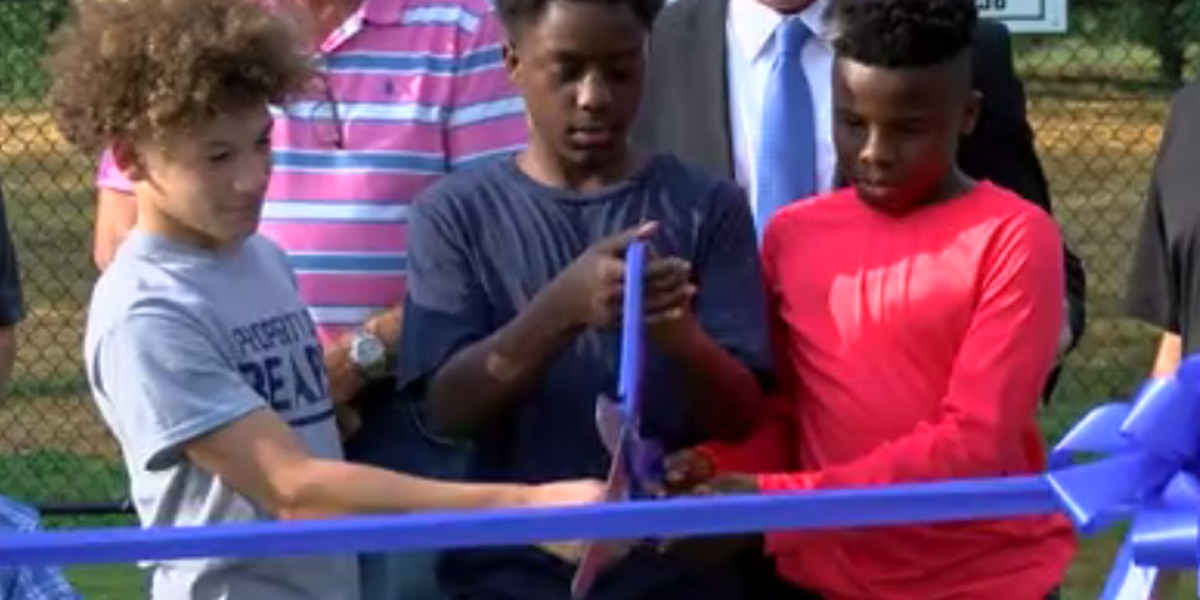 Double ribbon-cutting in Madisonville for 2 parks
