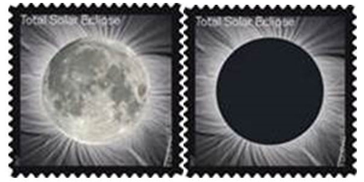 Eclipse of the sun stamp soon for sale at Dawson Springs Post Office