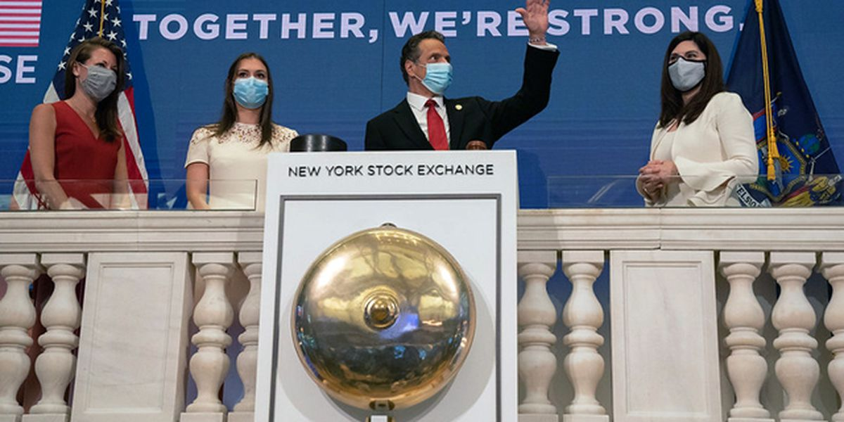 Stocks rise on Wall Street, but US braces for 100,000 deaths