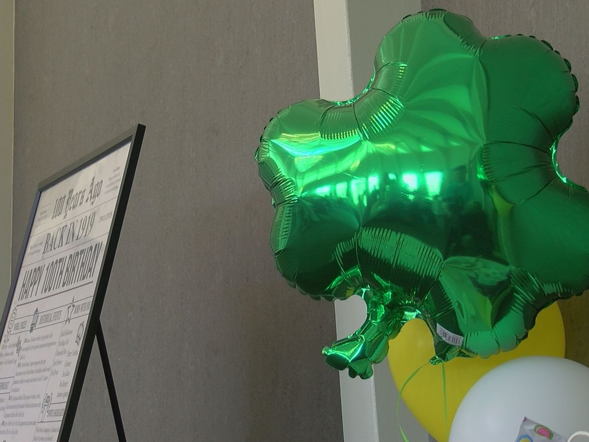 Woman turns 100 on St. Patrick's Day