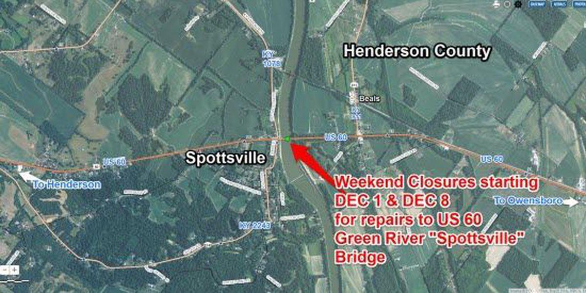 1 lane reopened on Spottsville Bridge after weekend work