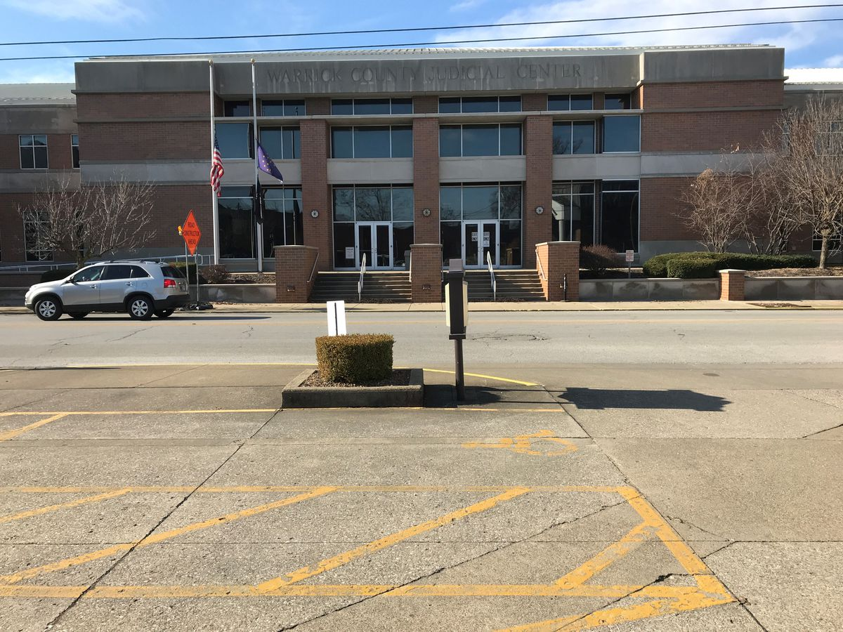 Suspicious backpack found near Warrick Co. Judicial Center