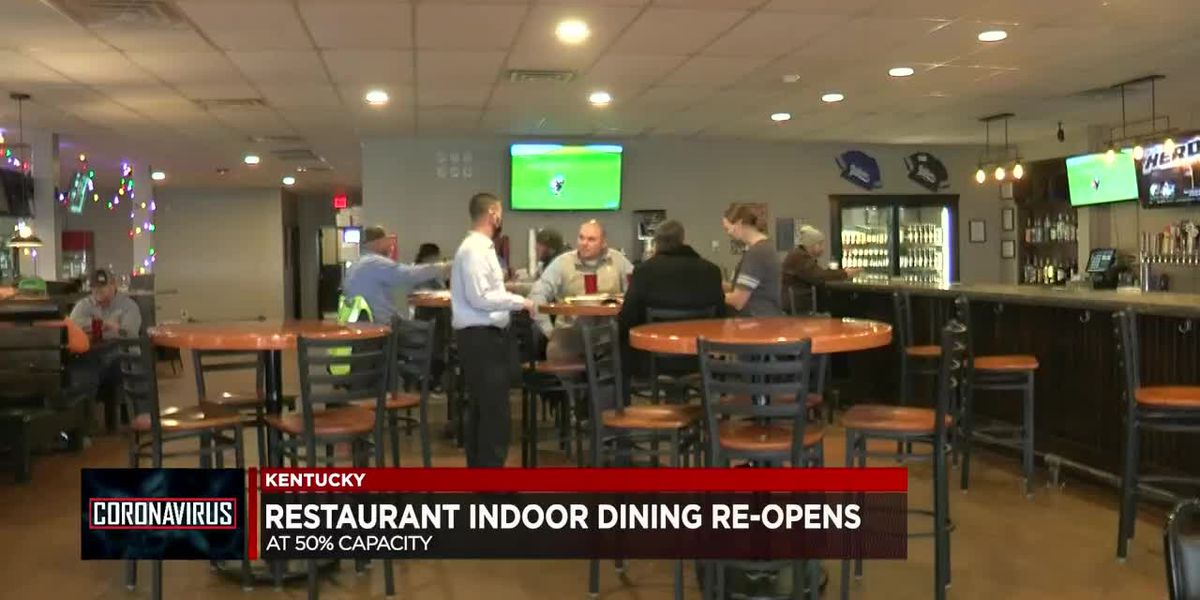 KY restaurants can now open dining rooms at 50%