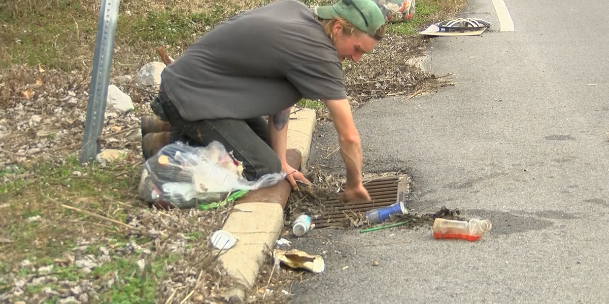 Man quits job, cleans litter along road in Gibson County
