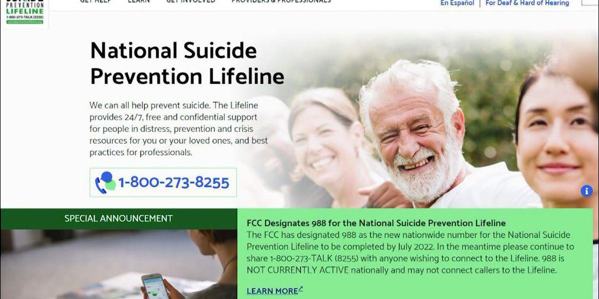 FCC approves new 3-digit national suicide hotline