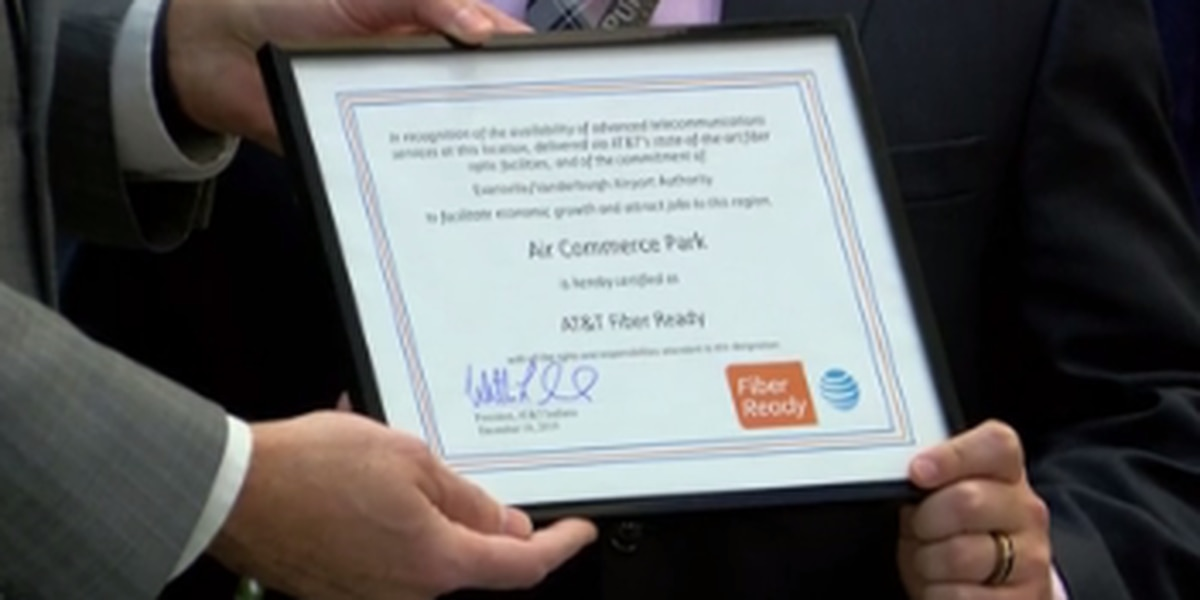 Air Commerce Park at EVV designated as AT&T Fiber Ready