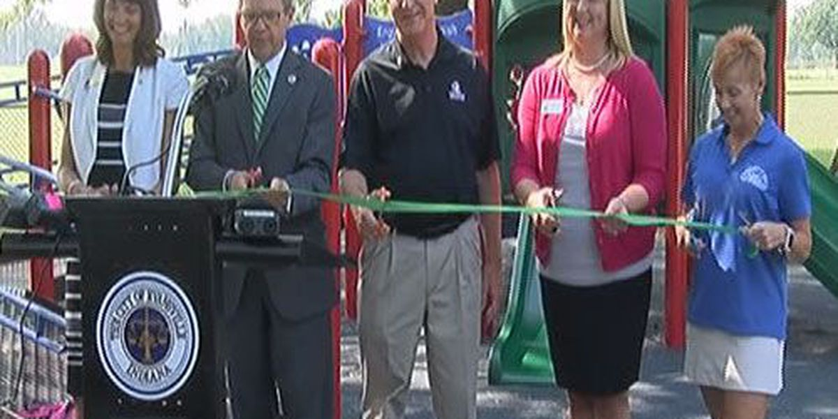 Playground at Wesselman Park equipped for kids with disabilities
