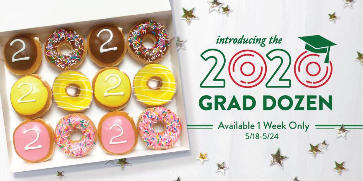 Krispy Kreme to give graduating seniors dozen doughnuts