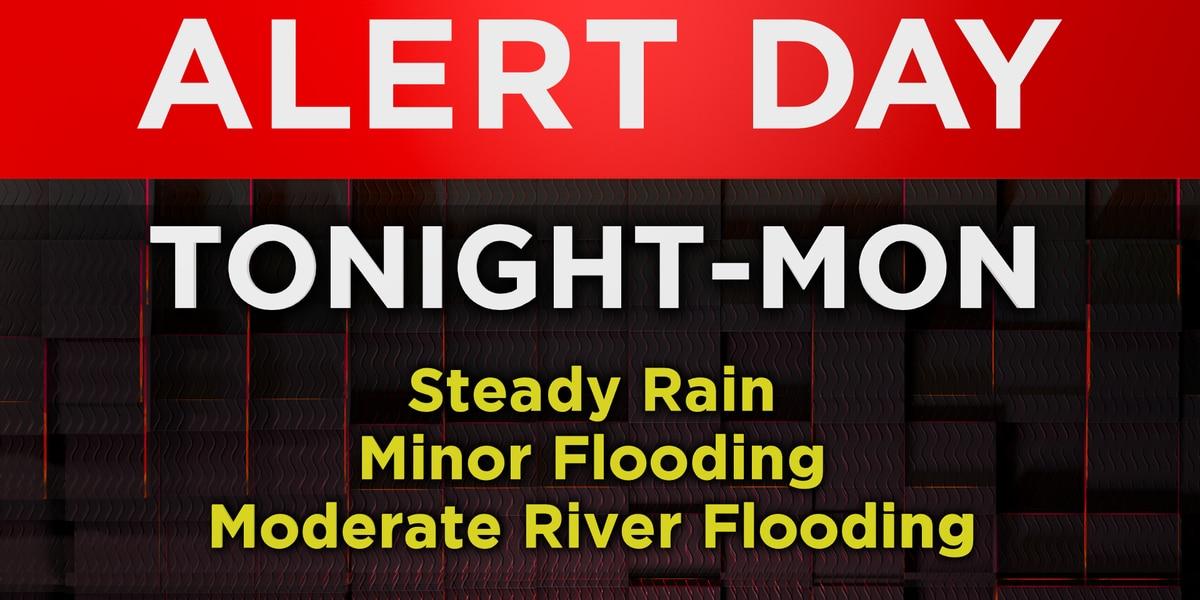 Alert for flooding through Monday