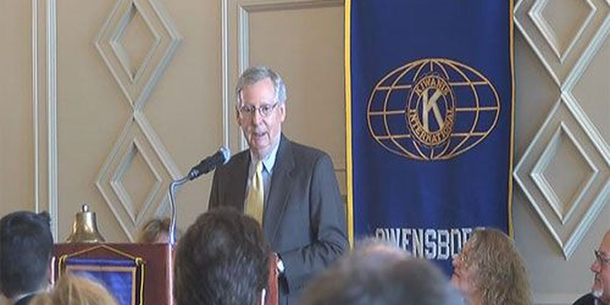 McConnell speaks at Kiwanis Club lunch in Owensboro