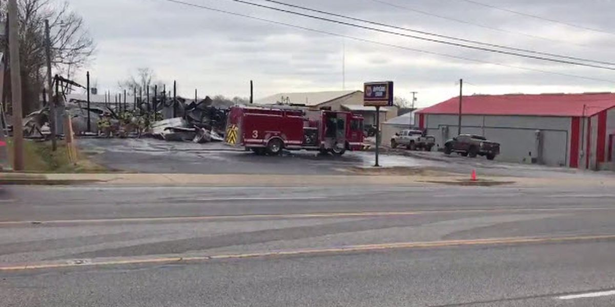 Building a total loss after Madisonville fire