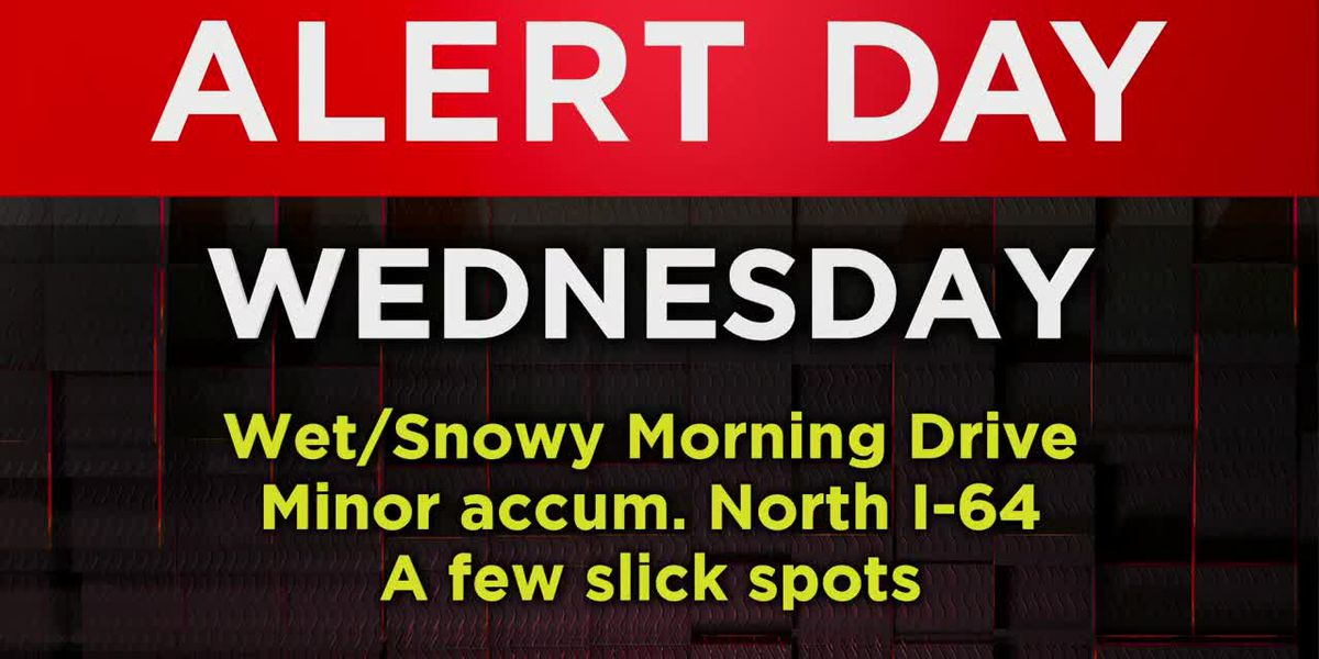 Alert Day Wednesday: Wintry mix may create slick spots