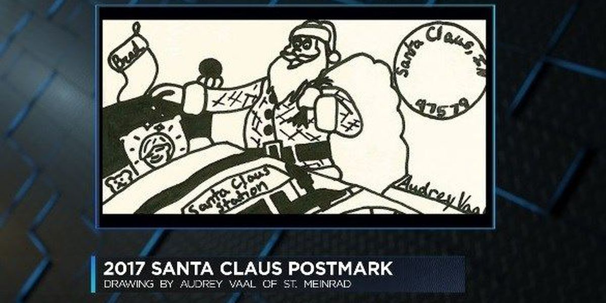 Santa Claus Post Office selects winner for annual postmark