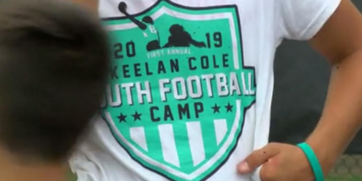 Jacksonville Jaguars' Keelan Cole hold football camp in Owensboro, Ky.