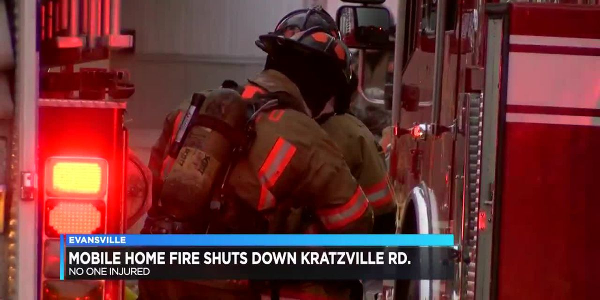 No one hurt in Evansville mobile home fire