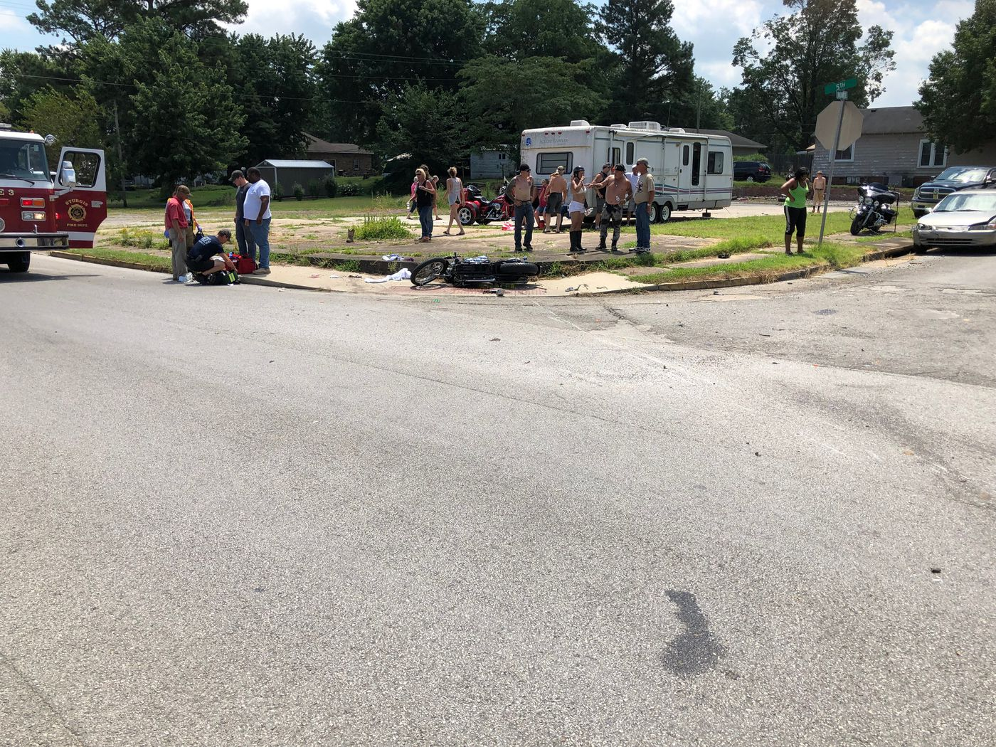 Bikers hit by car in Sturgis (Source: Union Co. Sheriff)